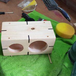 Wooden Box with miter spline inserts