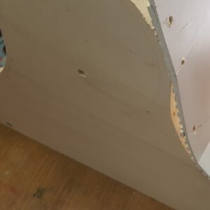 Cracked plywood skin