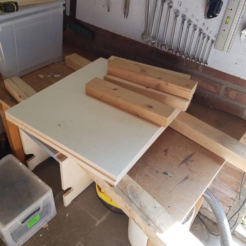 Wood Parts for Frame Base