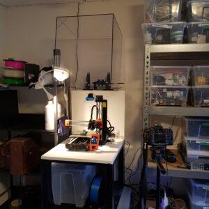 Opened 3D Printing Enclosure