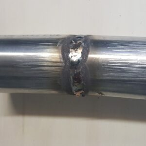 Test Weld of 1.5mm Stainless Steel