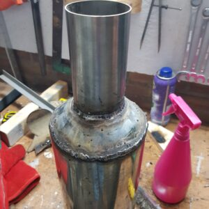 Welded cone and straight